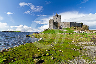 Dunguaire castle at the ocean bay