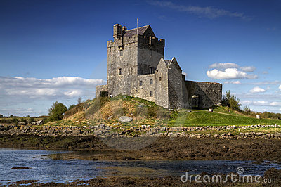 Dunguaire castle in sunny day