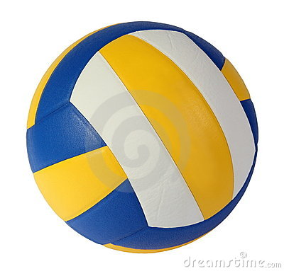 Dunkelblaue, gelbe Volleyballkugel