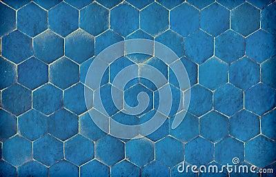 Dunkelblaue sechseckige blaue fliesen stockfotografie bild 32221052 - Blaue fliesen ...