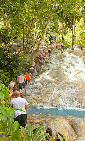 Dunn s River Falls in Ocho Rios, Jamaica Editorial Photography
