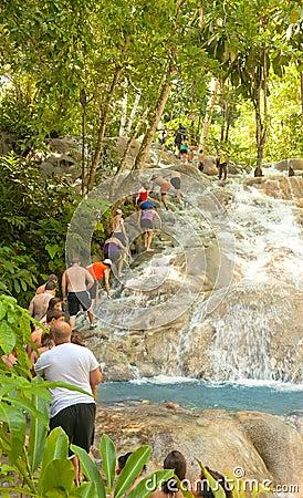 Dunn s River Falls in Ocho Rios, Jamaica Editorial Photography