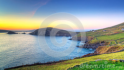 Dunquin bay in Co. Kerry at sunset