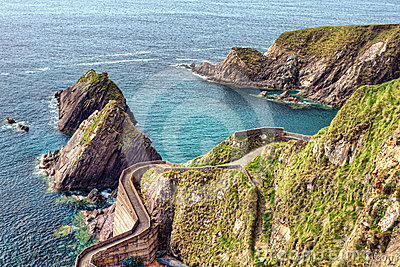Dunquin Pier of Peninsula in Ireland.