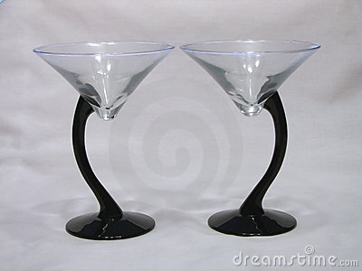 Duo of Martini Glasses
