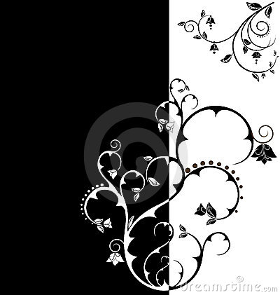 Duo tone floral wallpaper