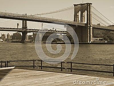 Duo-tono del ponte di Brooklyn