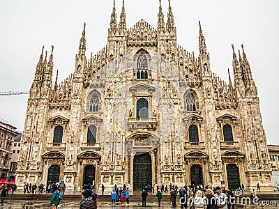 Duomo милана Редакционное Изображение