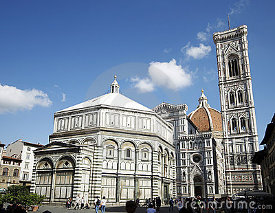Duomo and baptistery of florence Editorial Stock Image