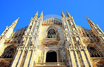 Duomo castle in Milan, italy