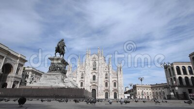 Duomo cathedral  in Milan, Italy stock video