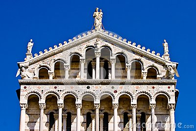 Duomo Cathedral near the leaning tower Pisa Italy