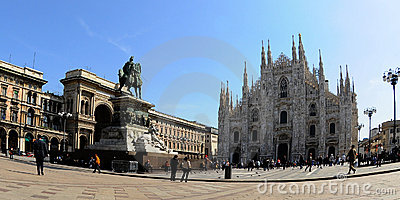 Duomo di Milano from the Square. Editorial Image