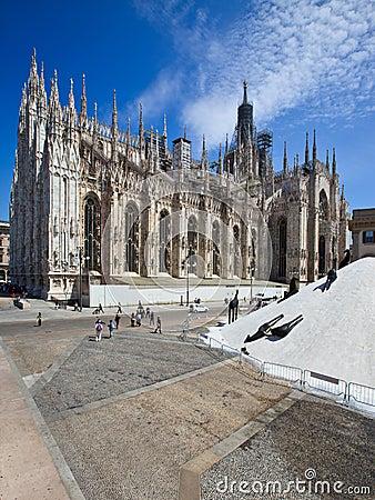 Duomo di Milano in sun lights Editorial Stock Photo