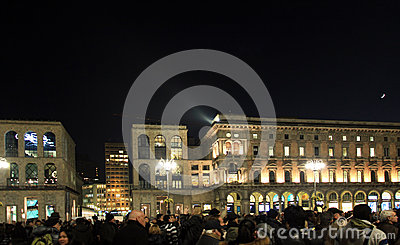 Duomo square during Christmas holidays Editorial Image
