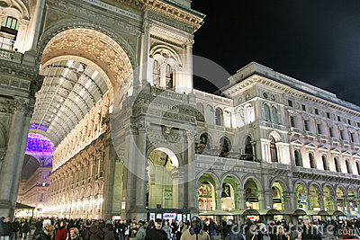 Duomo square during Christmas holidays Editorial Stock Photo
