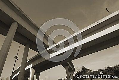 Duotone of Interstate Overpass