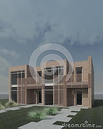 Duplex moderne photos libres de droits image 16256888 for Maison duplex moderne
