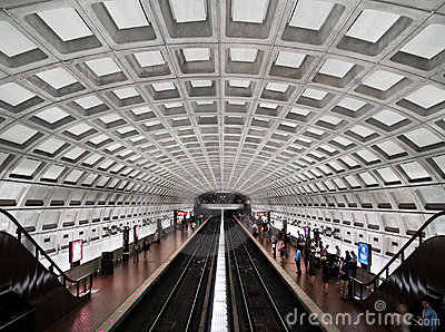 Dupont Circle metro station interior Editorial Stock Photo