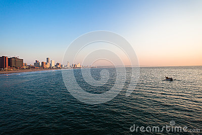 Durban Beachfront Fishing Boat