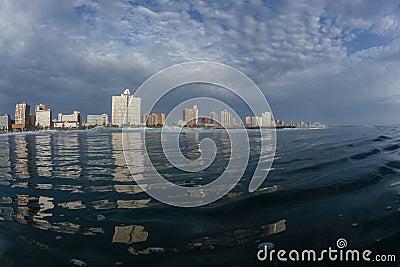 Durban Beachfront Ocean Water Morning Sunrise