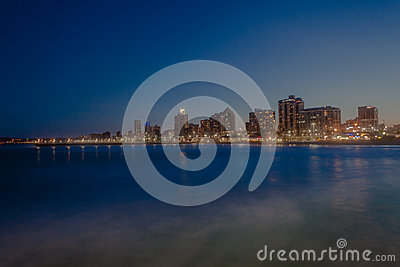 Durban Beachfront Sunset Editorial Photo