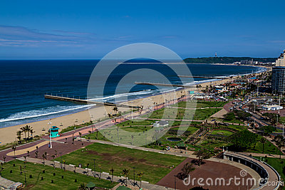 Durban coastline Editorial Stock Image