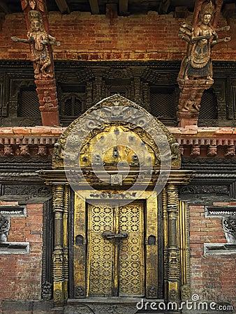 Durbar fyrkant för kathmandu slottkunglig person
