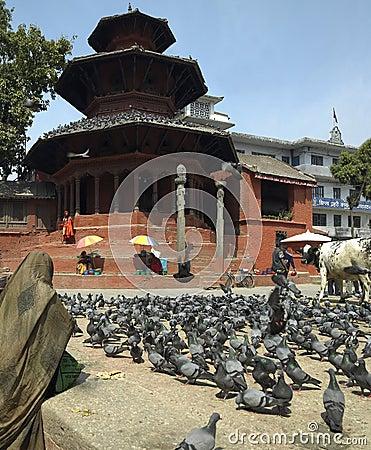 Durbar Square - Bhaktapur - Kathmandu - Nepal Editorial Stock Image