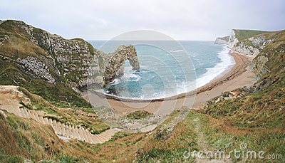 Durdle Door Beach Jurassic Coast Dorest uk