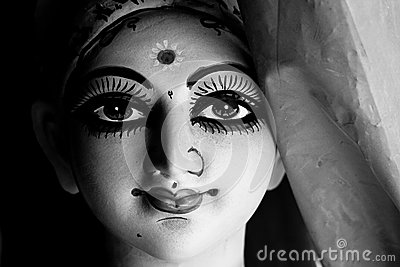 Durga idol at Kumortuli (Kolkata)