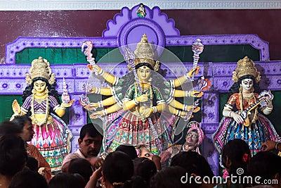 Durga Pooja, Hindu God India Editorial Stock Image - Image ...