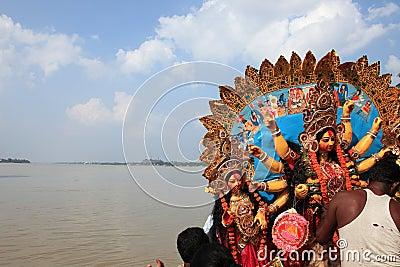 Durga puja festival Editorial Stock Photo