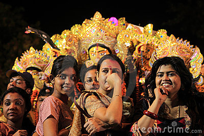 Durga puja festival Editorial Photography