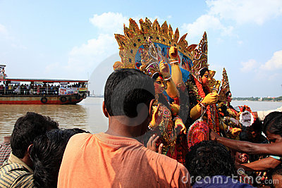 Durga puja festival Editorial Stock Image