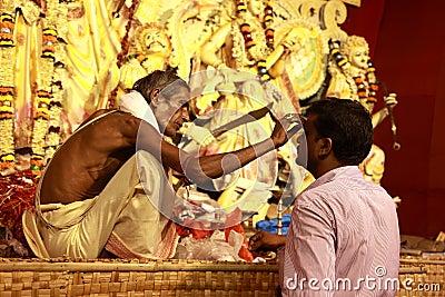 Durga puja festival Editorial Photo