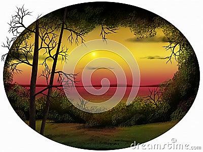 Dusk Horizon - Digital Painting
