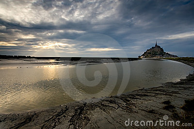 Dusk at Le Mont St Michel