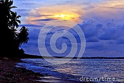 Dusk Light at the Beach