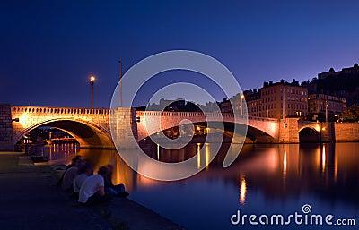 Dusk in Lyon