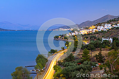 Dusk at Mirabello Bay on Crete