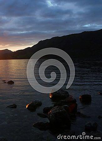Free Dusk On Loch Maree Stock Photography - 48042