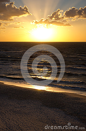 Dusk over the Baltic sea