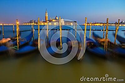 At dusk in Venice