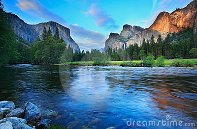 Dusk at Yosemite