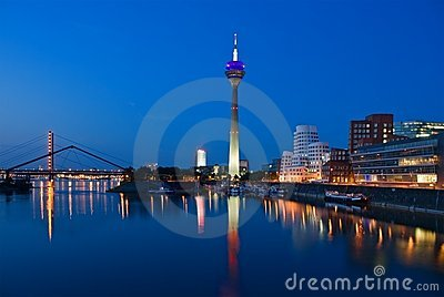 Dusseldorf Skyline at the Blue Hour