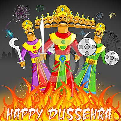 Dusshera Raavan Dahan Stock Photo  Image: 27151580