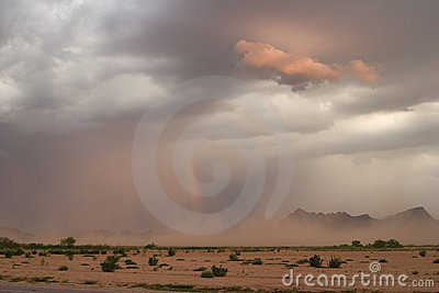 Dust Storm and Rainbow