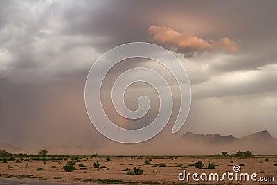 Dust Storm and Rainbow