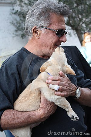 Dustin Hoffman in Italy for a commercial Editorial Stock Image